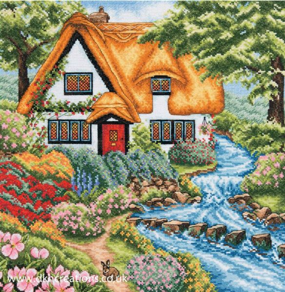 Cottage Stream Cross Stitch Kit